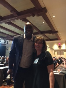 NBA Legend Magic Johnson with Matthews Group CFO Kathy Drapeau discussing the long and short of business today
