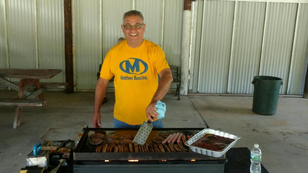 John Mistretta manning the grill