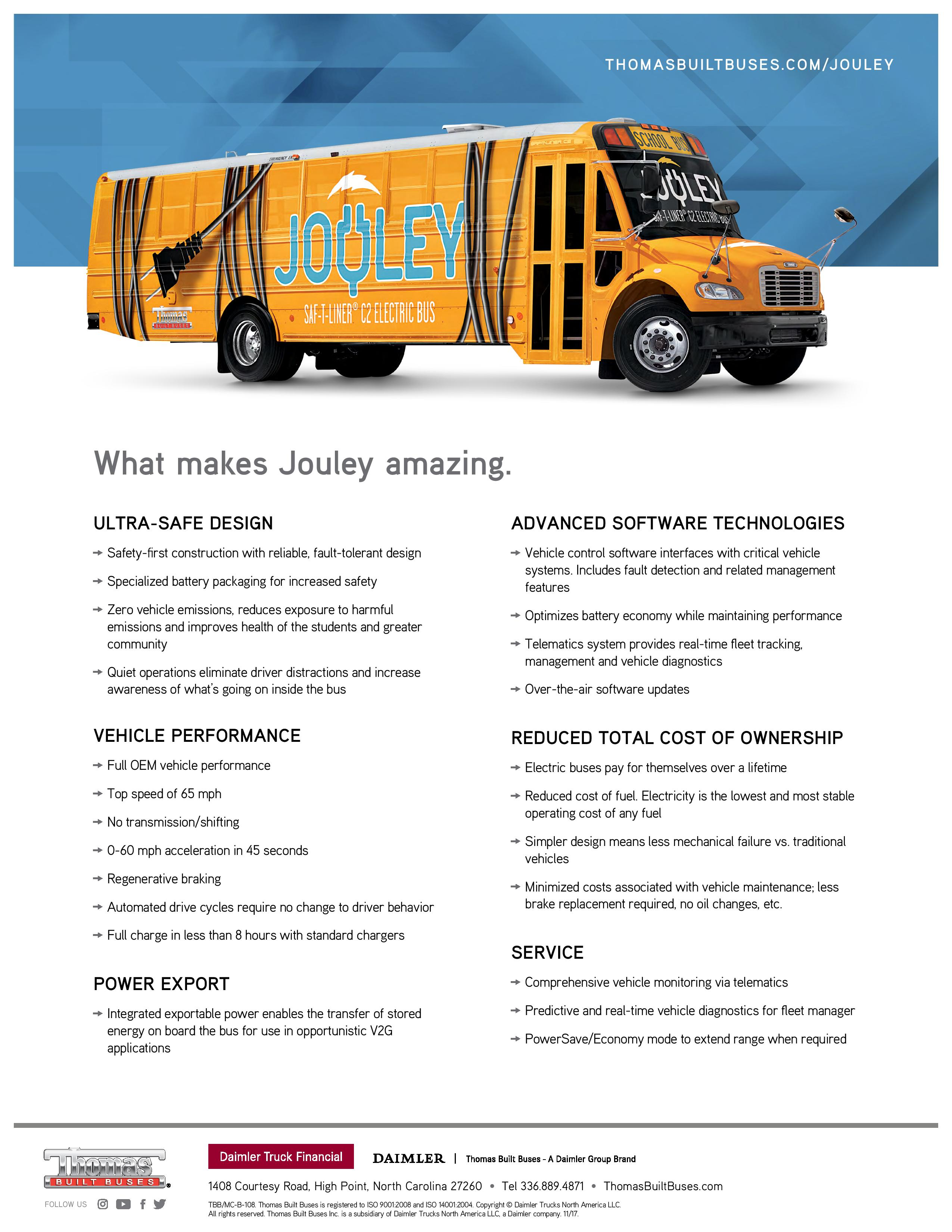 Jouley Electric C2 Bus Flyer