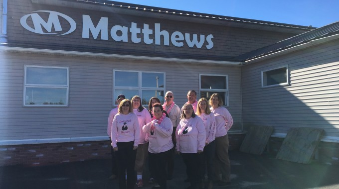 Matthews Buses Shows Support in the Fight Against Breast Cancer