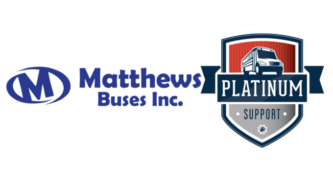 "Matthews Buses Attains ""Platinum Support"" Status from Thomas Built Buses"