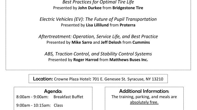 Matthews Buses Hosted Training Invitation