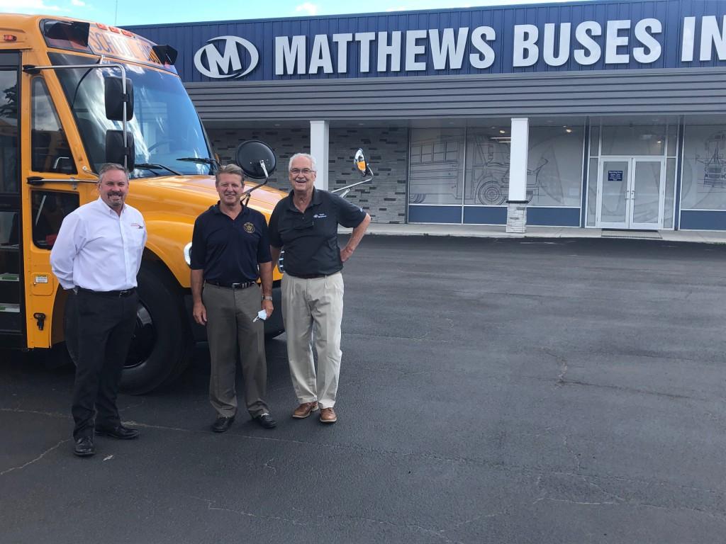 Senator Patrick Gallivan Visit Matthews Buses Avon