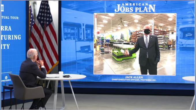 President Biden Virtually Visits Proterra Plant